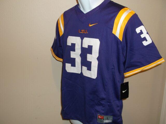 size 40 cc20f fa3ac LSU Tigers Nike Football Jersey # 33 Youth M Purple All Sewn Numbers/logos