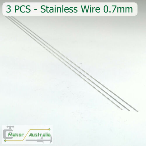 11.81 inches Lengths 3 PCS 0.7mm Stainless Steel Wire Straight 30cm