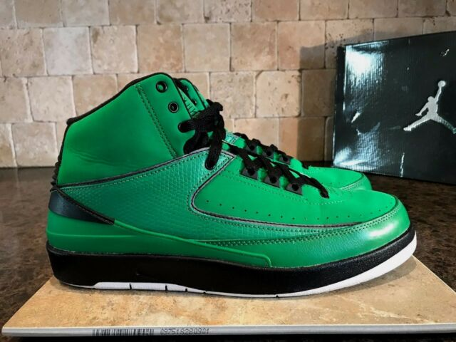 quality design 18db7 b91d2 AIR JORDAN 2 RETRO QF SHOES MEN S SZ 9.5 CANDY PACK GREEN   BLACK 395709 301