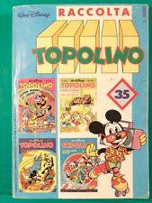 TOPOLINO RACCOLTA n35  n1608-1609-1610-1611 disney pippo minnie fumetto paperone