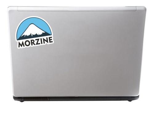 2 x 10cm Morzine Ski Snowboard Vinyl Sticker iPad Laptop Luggage Travel #5139