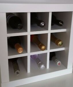 wine rack insert for ikea kallax expedit storage unit. Black Bedroom Furniture Sets. Home Design Ideas