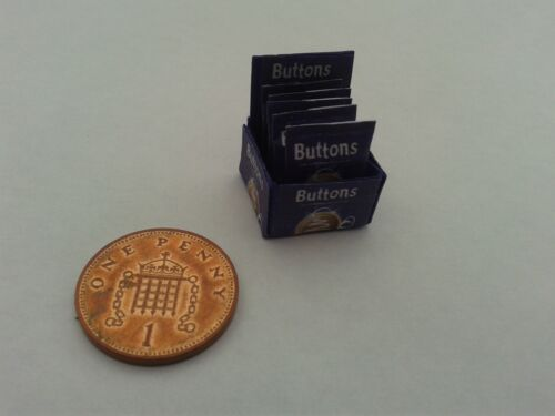 Escala 1//12 caja de botones de chocolate dulces para Dollshouse Miniatures