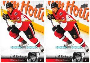 2x-UPPER-DECK-2010-ERIK-KARLSSON-NHL-OTTAWA-SENATORS-SUPERSTAR-66-MINT-CARD-LOT