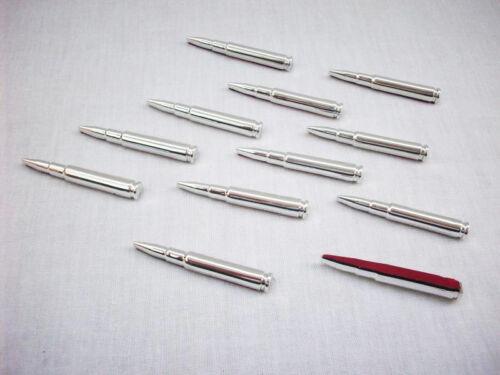 Nuevo pegatinas tuning cartuchos 12 trozo de cromo emblema Styling
