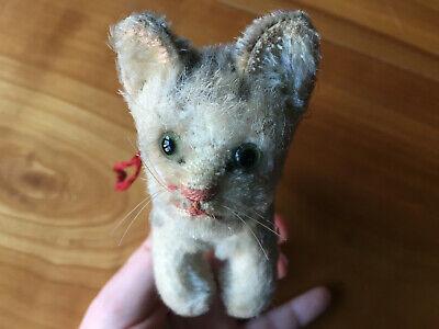DemüTigen Katze Steiff Knopf Im Ohr 15cm Aus Sammlung,bespielt,aus Den 40er Jahren,antik Durchblutung GläTten Und Schmerzen Stoppen
