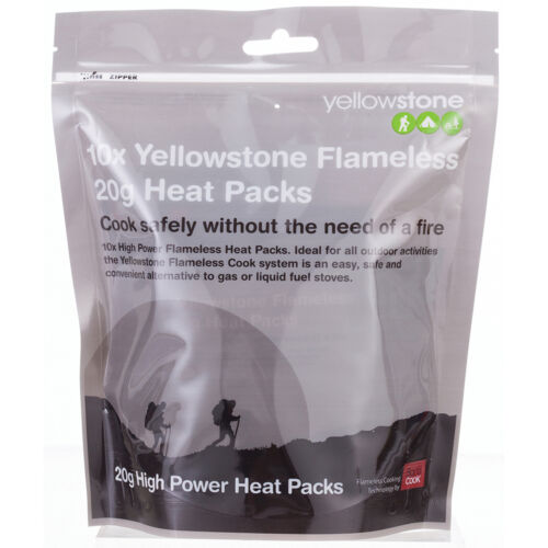 Yellowstone Flameless 20g High Power Heat Packs 10 Pack Camping and Indoor usage