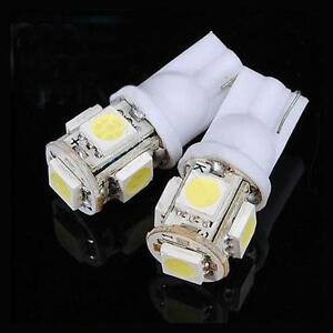 5PCS-12X30m-T10-5050-W5W-5-SMD-194-168-LED-White-Car-Side-Wedge-Tail-Light-Lamp