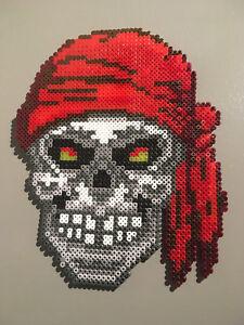 Détails Sur Pixel Art Perles A Repasser Tete De Mort Pirate