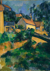 Turning Road at Montgeroult Art Print//Poster Paul Cezanne 4221