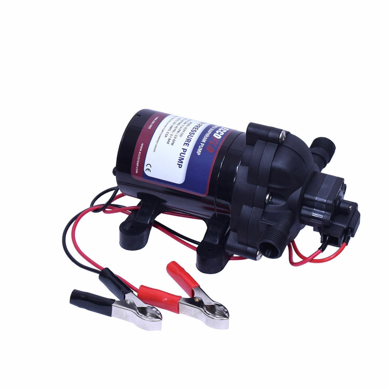 Eccotemp EccoFlo Triplex Diaphragm 2.9 GPM 12V Water Heater Pump and Strainer