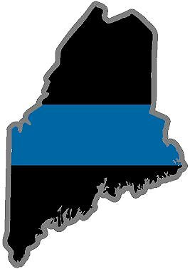 """5/"""" ME Maine State Thin Blue Line Police Sheriff SWAT Sticker Law Enforcement"""