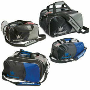 Bowling-Ball-Tasche-Brunswick-Crown-Double-2-Ball-Bag-Plus-fuer-Bowlingschuhe