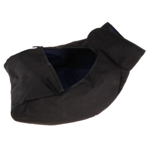 Universal Baby Warm Stroller Buggy Windshield Cover Pram FootMuff Black