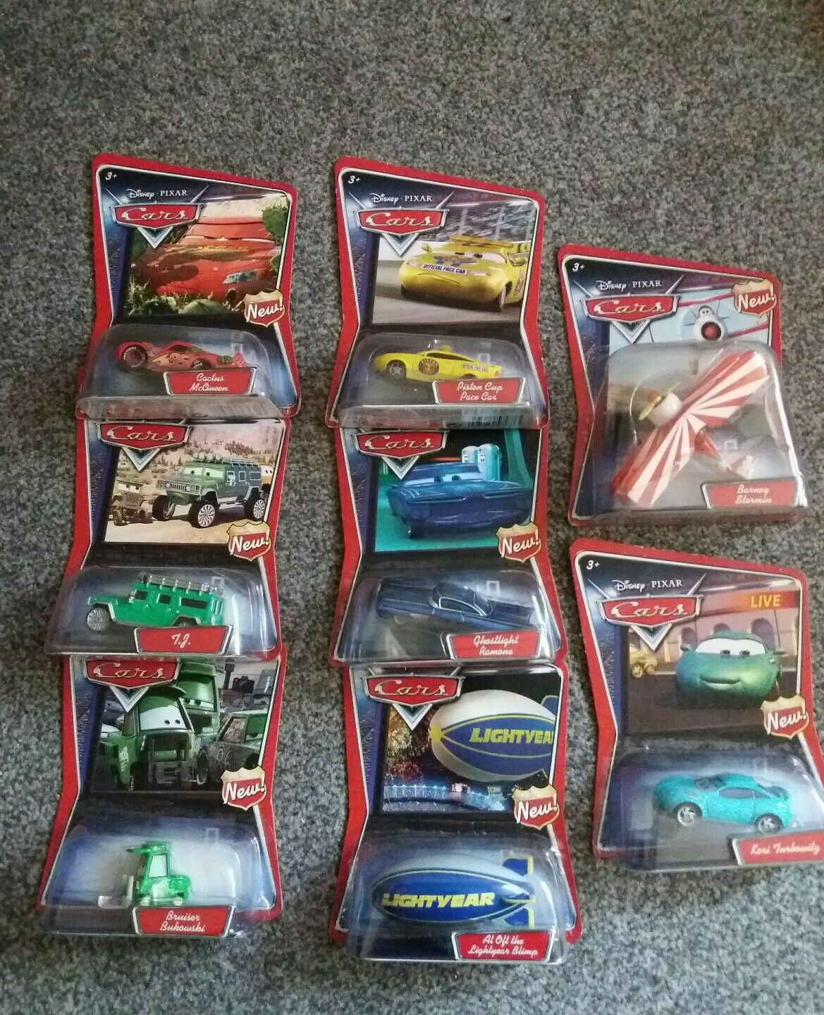 Mattel Pixar Cars Diecast Diecast Diecast supercharged Walmart 8 exclusive 8 car set 2007 MOC 5e6c9a