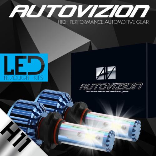 2x H11 388W LED Headlight Fog Light Car Truck Bulbs Kit White Beam 6000K 38800LM