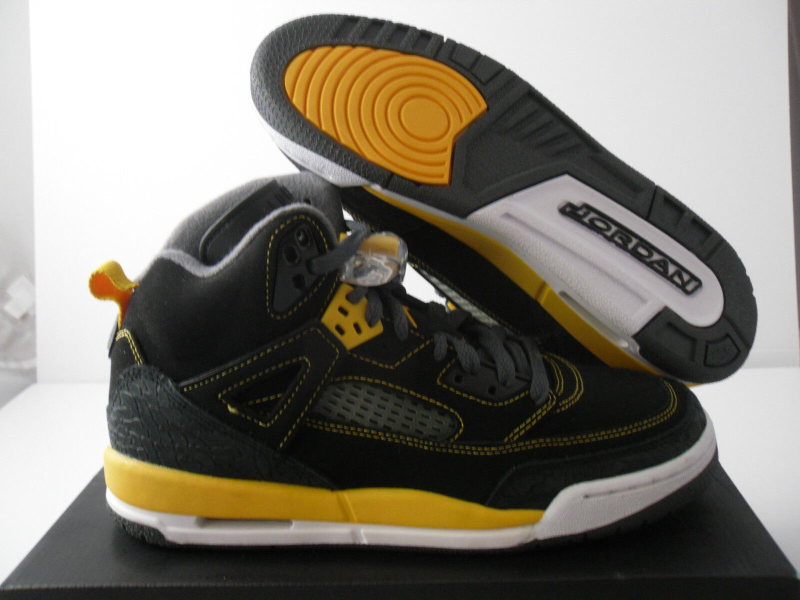 NIKE AIR JORDAN SPIZIKE (GS) BLACK-GOLD-GREY WMNS SZ 8 - SZ 6.5Y [317321-030]