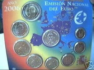 2006! Div. Spagna 8 Monete Euro Espagne Spanien