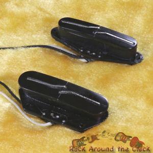 Lindy Fralin Split Blade Blues Tele Pickup Set NEW! BLACK Covers - Flat Radius