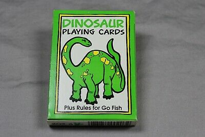 Vintage Dinosaur Playing Cards Plus Rules For Go Fish Sealed Ebay