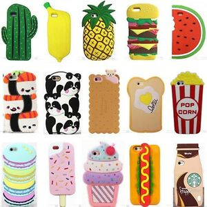 hot 3d cute cartoon food soft silicone rubber case cover