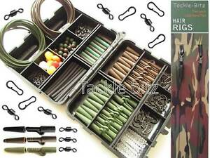 Peche-a-La-Carpe-Terminal-Fin-Tackle-Box-Pese-Lead-Clips-Crochets-emerillons-Cheveux-Rigs