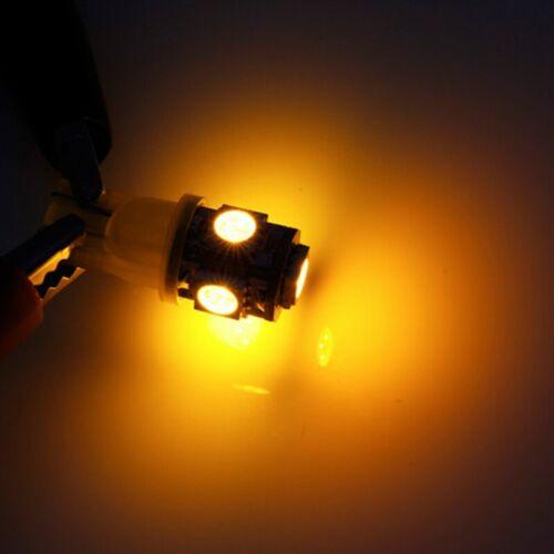 Wedge Bulb LED for Malibu 12V AC//DC Landscape Light 10-pack AMBER YELLOW T10