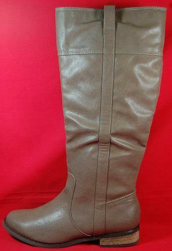 Women's RAMPAGE INDELLA Tan Mid Calf Fall Fashion Heels Pull On Dress Boots New