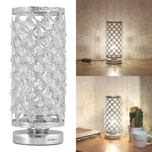 Details About Crystal Table Lamp Bedside Nightstand Desk Reading Lamp Bedroom Living Room