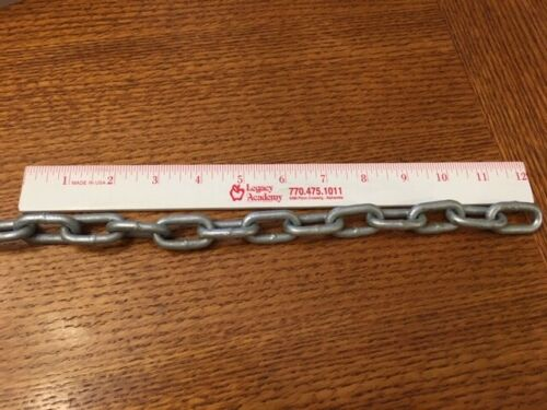 """New 3//16/""""x100/' Proof Coil Chain Grade 30 Chain Hot Dip Galvanized Free Shipping"""