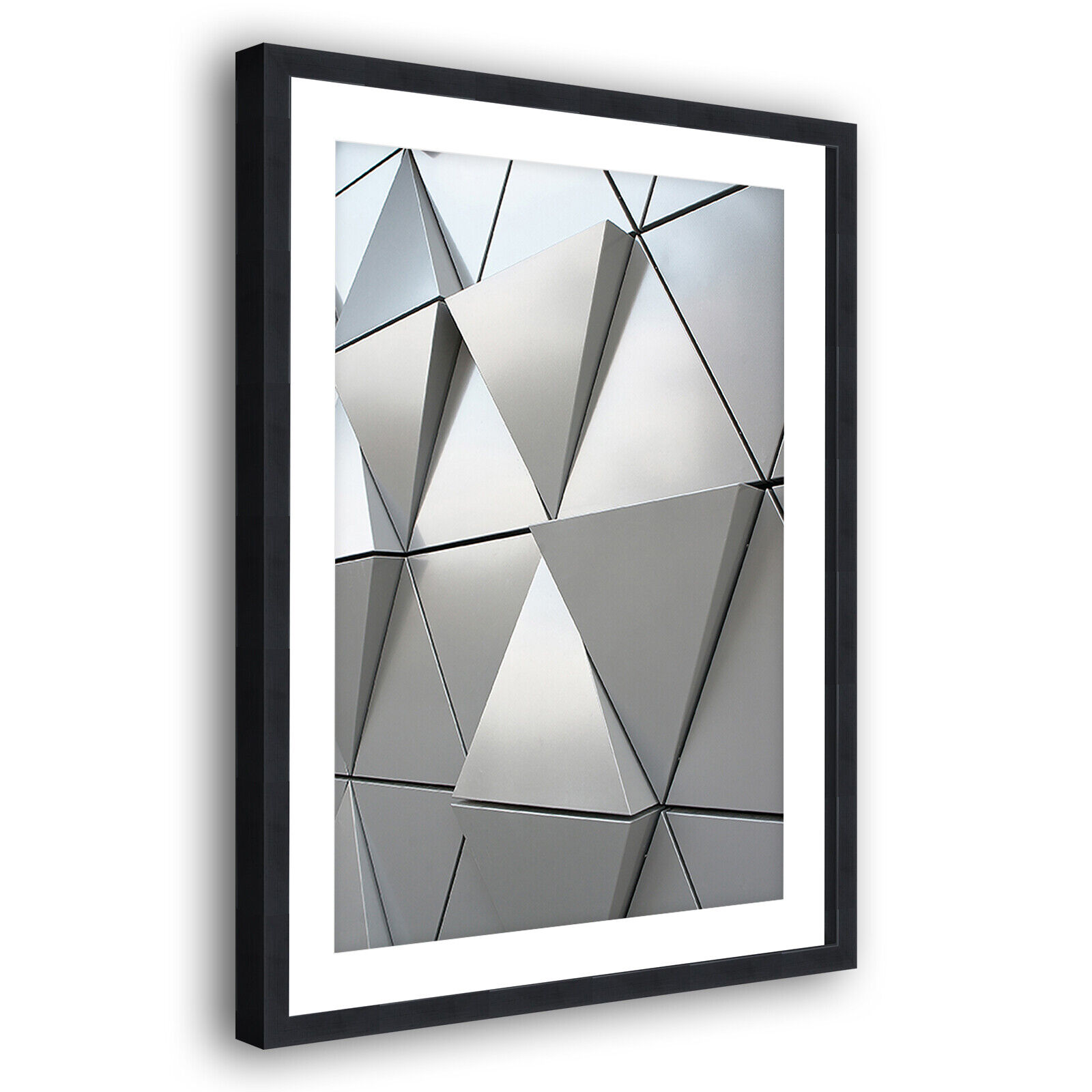 grau Weiß Funky Modern Portrait Abstract Framed Wall Art Large Picture Prints