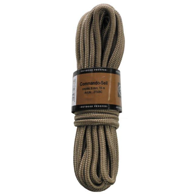 Taktisches Seil Paracord Commando Seil 9mm 15m Oliv 27503C Outdoor Survival EDC