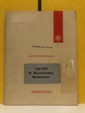 General Radio Type 1807 Dc Microvoltmeternanoammeter Instruction Manual