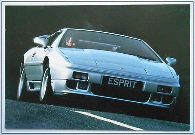 Advertising Responsible Lotus Esprit Post Card Brochure Sales Literature