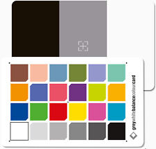 2 in 1 Grey White Balance Colour Card: 3x2  Credit Card Size - Come with 2 cards