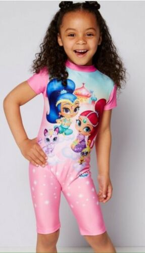 Nick Jr Shimmer And Shine UV//UPF Protection 40 Swimsuit 2-3 Years BNWT