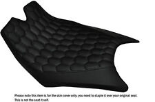 HEX BLACK STITCHING CUSTOM FITS KTM RC8  FRONT RIDER REAL LEATHER SEAT COVER