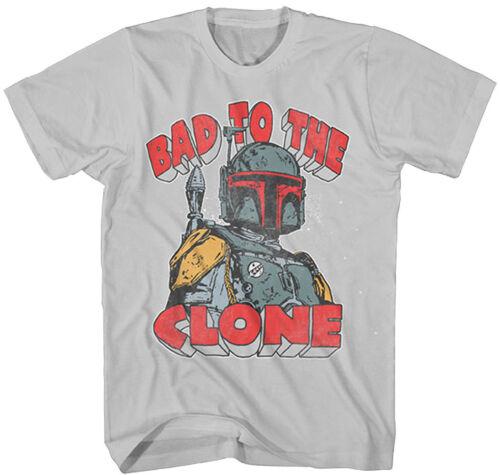 Official Star Wars Bad To The Clone Youth T-Shirt Darth Vader David Bowie Boba