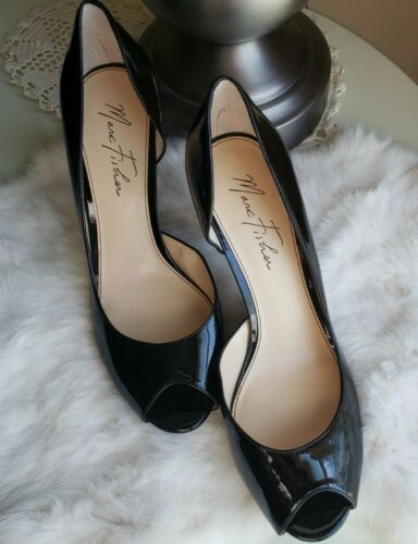 "Marc Fisher ""Joey"" Patent Leather Peep Toe Heels-S"