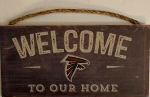 """Atlanta Falcons """"Welcome To Our Home"""" Wood Distressed Sign (New) (Slight Imperfection) Canada Preview"""