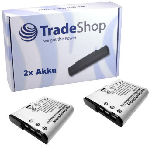 Batería 2x para Sony CyberShot dsc-hx-7vr dsc-hx-10 dsc-hx-10v dsc-hx-20