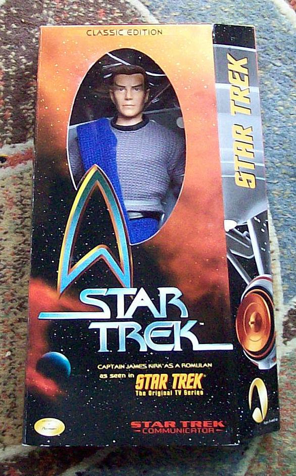 PLAYMATES Star Trek 12  KIRK As ROMULAN Ltd Edit w Cert Dan Madsen '99 NRFB