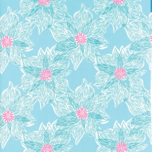 Per 1//4 Metre Moda Fabric Voyage Rio Turquoise