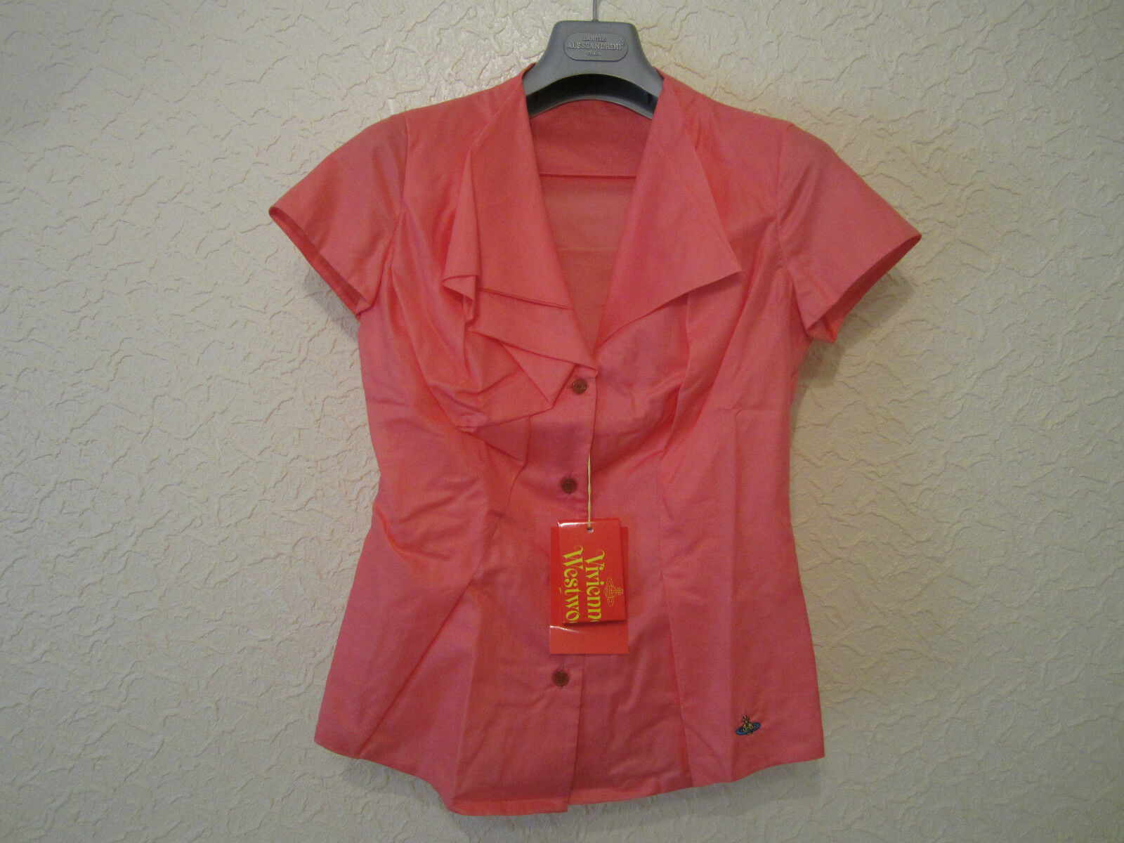 Vivienne Westwood rot Label Cotton -Voile Blouse