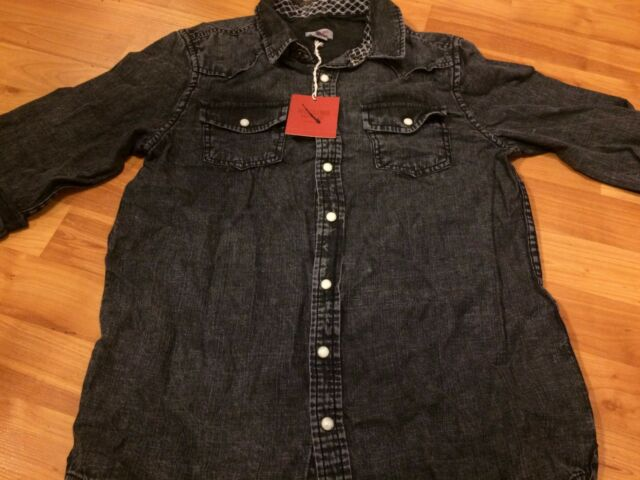 558aba1d B29 NEW Mossimo Denim Long Sleeve BUTTON Shirt Blouse GIRLS Large 12-14  FREE S