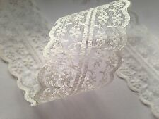 Lace Ribbon Trimming Craft Bridal Wedding Scrapbook Favours Scalloped Edge