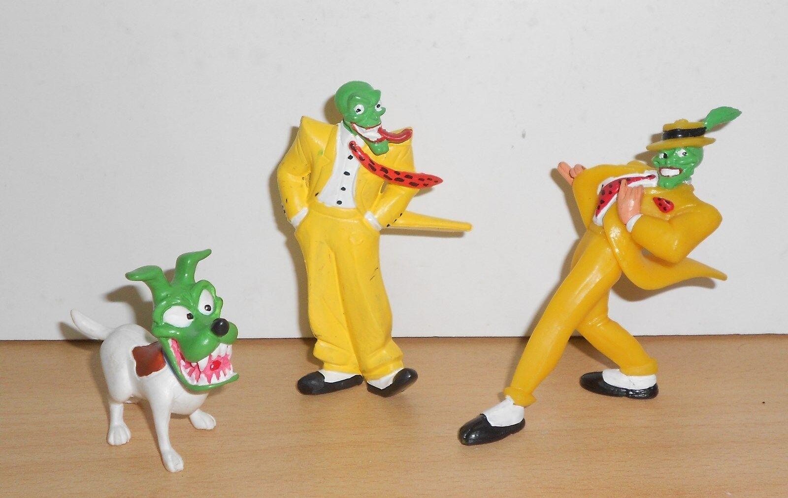THE MASK FILM JIM CARREY Complete Set PVC Hard Rubber Figure Figurine 1994