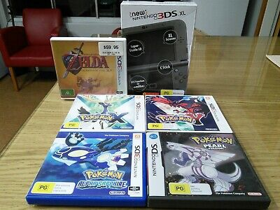 Nintendo New 3ds Xl Console Metallic Black New Pokemon X Y Alpha Pearl Zelda Ebay