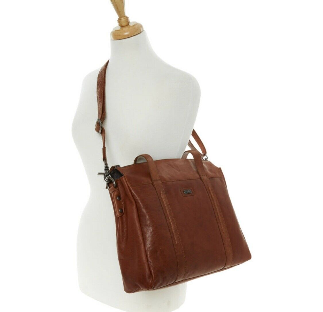Spikes & Sparrow Bag Tanned Leather Business Cross Body / Shoulder RRP