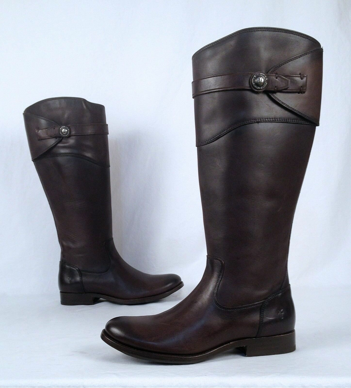 NEW!! Frye 'Molly Button' Tall Riding Boot- Brown- Size 7.5 B   425 (B16)